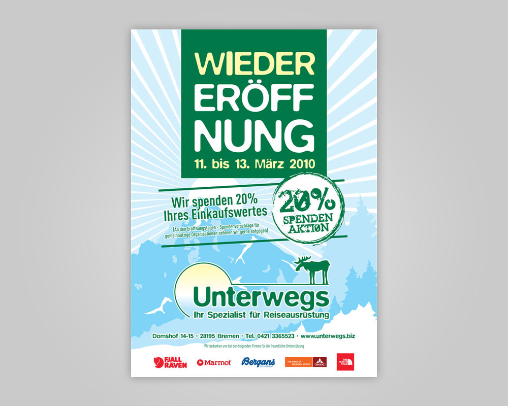 JD Designstudio   Werbeagentur & Webdesign   Unterwegs Zeitungsanzeige 1/1