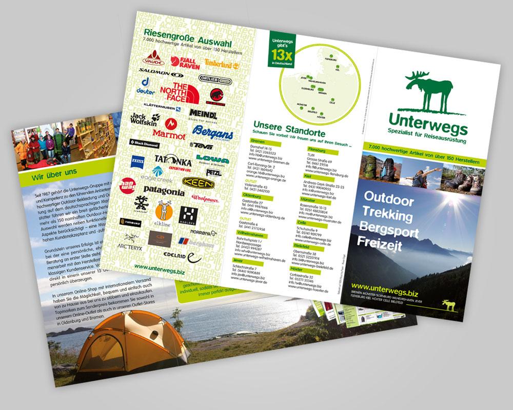 JD Designstudio   Werbeagentur & Webdesign   Unterwegs Flyer