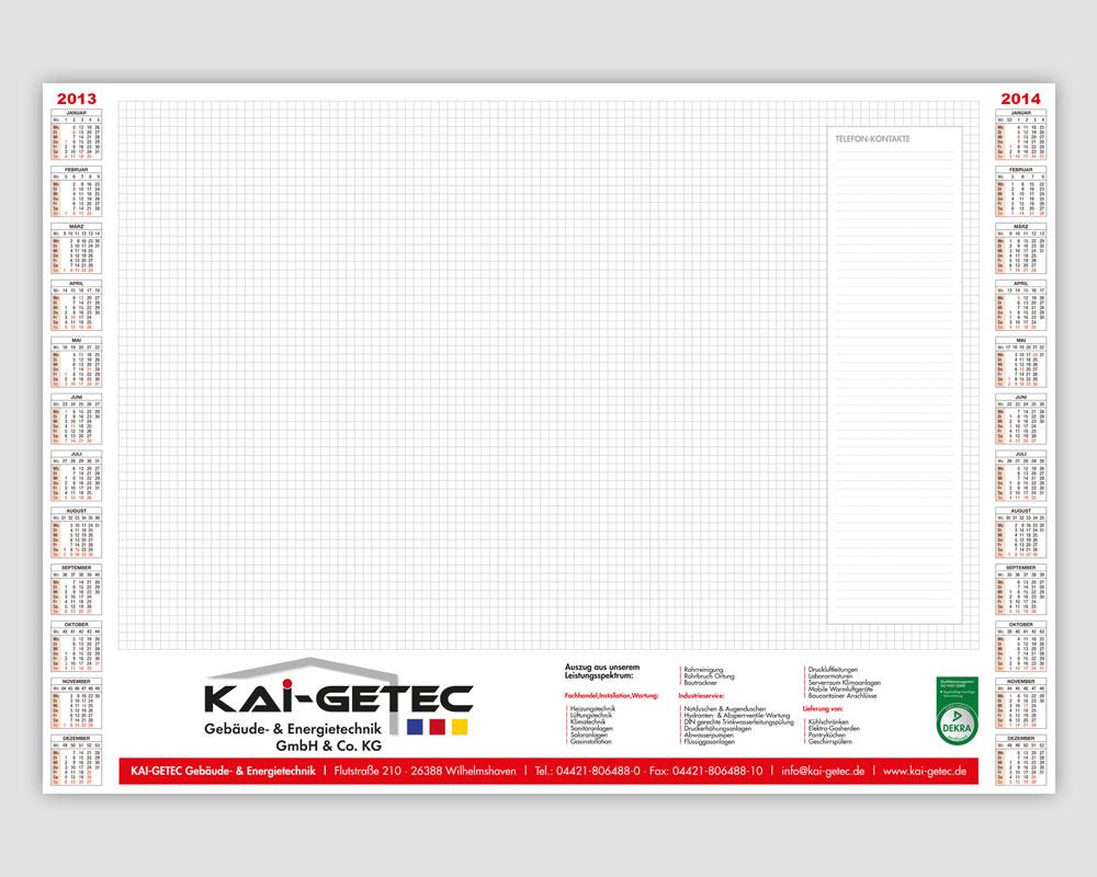 JD Designstudio | Werbeagentur & Webdesign | Kai Getec Schreibtischunterlagen
