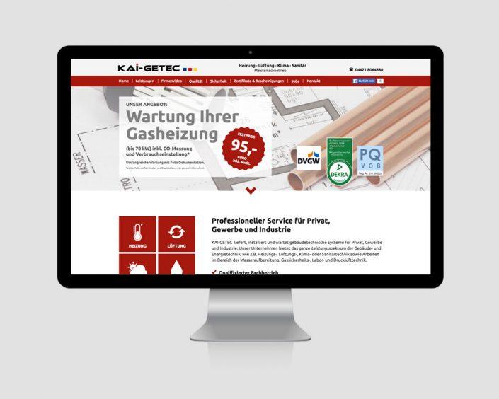 Internetauftritt - www.kai-getec.de