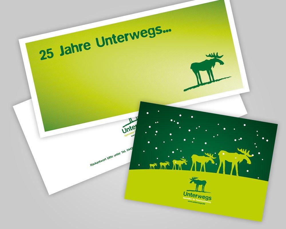 JD Designstudio   Werbeagentur & Webdesign   Unterwegs Einladungskarte, Weihnachtspost