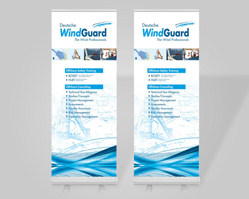 JD Designstudio | Werbeagentur & Webdesign | Deutsche WindGuard Rollup-Banner