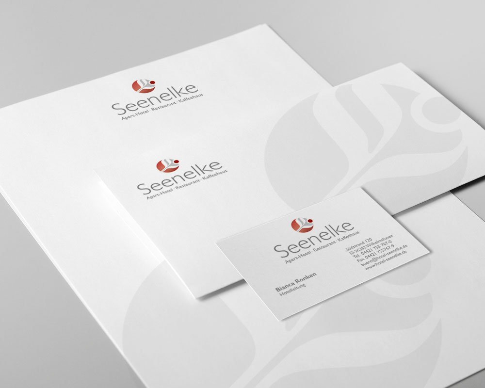 JD Designstudio | Werbeagentur & Webdesign | Hotel Seenelke Geschäftspapiere