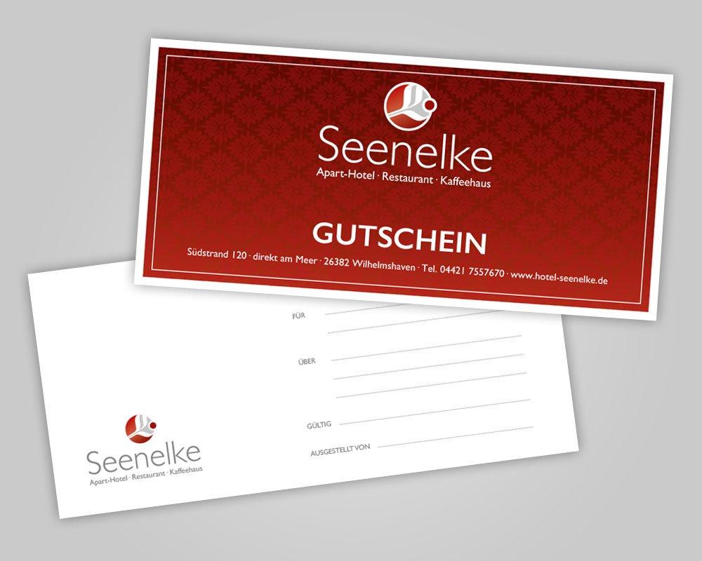 JD Designstudio | Werbeagentur & Webdesign | Hotel Seenelke Gutschein