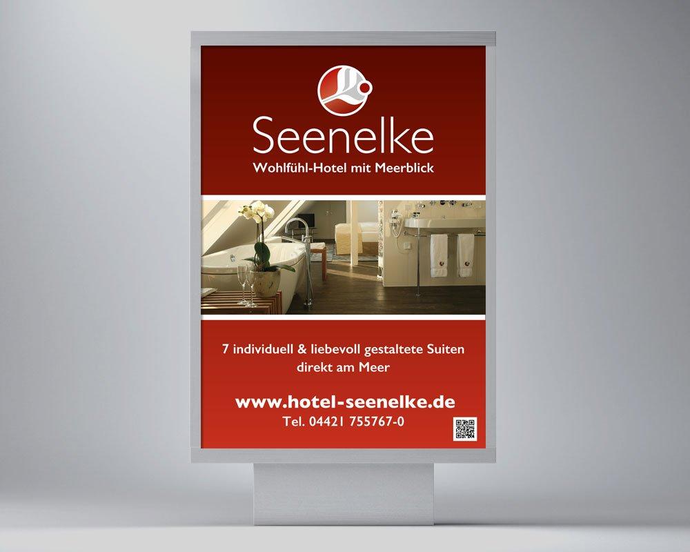 JD Designstudio | Werbeagentur & Webdesign | Hotel Seenelke Plakat