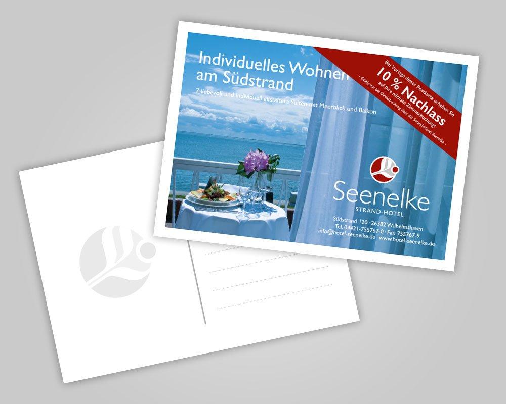 JD Designstudio | Werbeagentur & Webdesign | Hotel Seenelke Postkarte