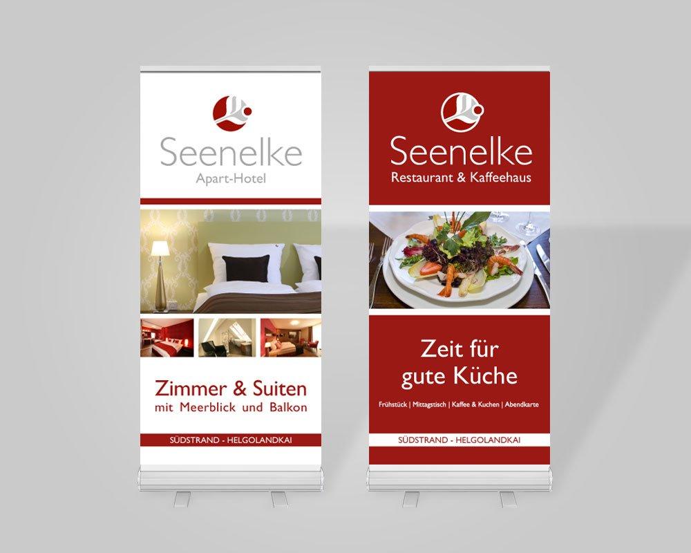 JD Designstudio | Werbeagentur & Webdesign | Hotel Seenelke Rollup-Displays