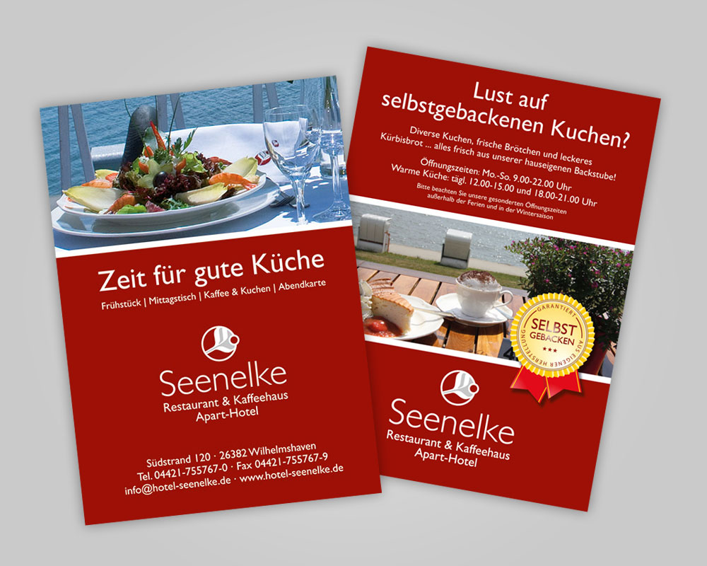 JD Designstudio | Werbeagentur & Webdesign | Hotel Seenelke Flyer