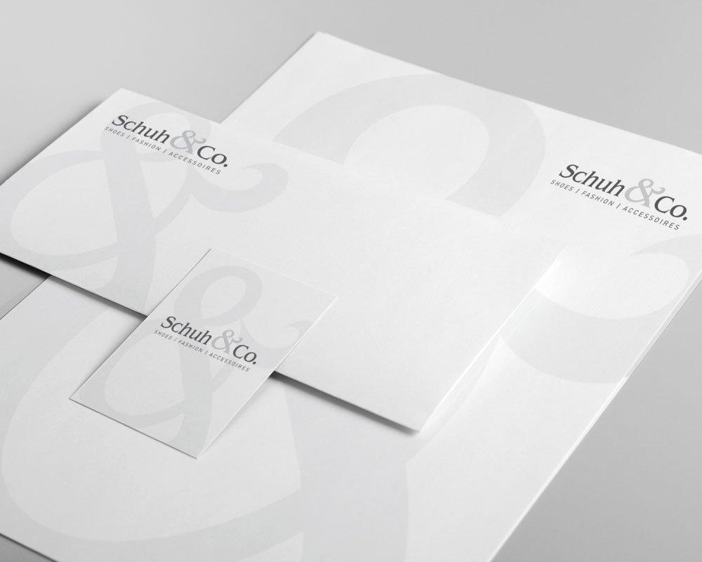 JD Designstudio   Werbeagentur & Webdesign   Schuh & Co. Geschäftspapiere