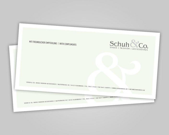 Schuh & Co. Karte Kurznotiz
