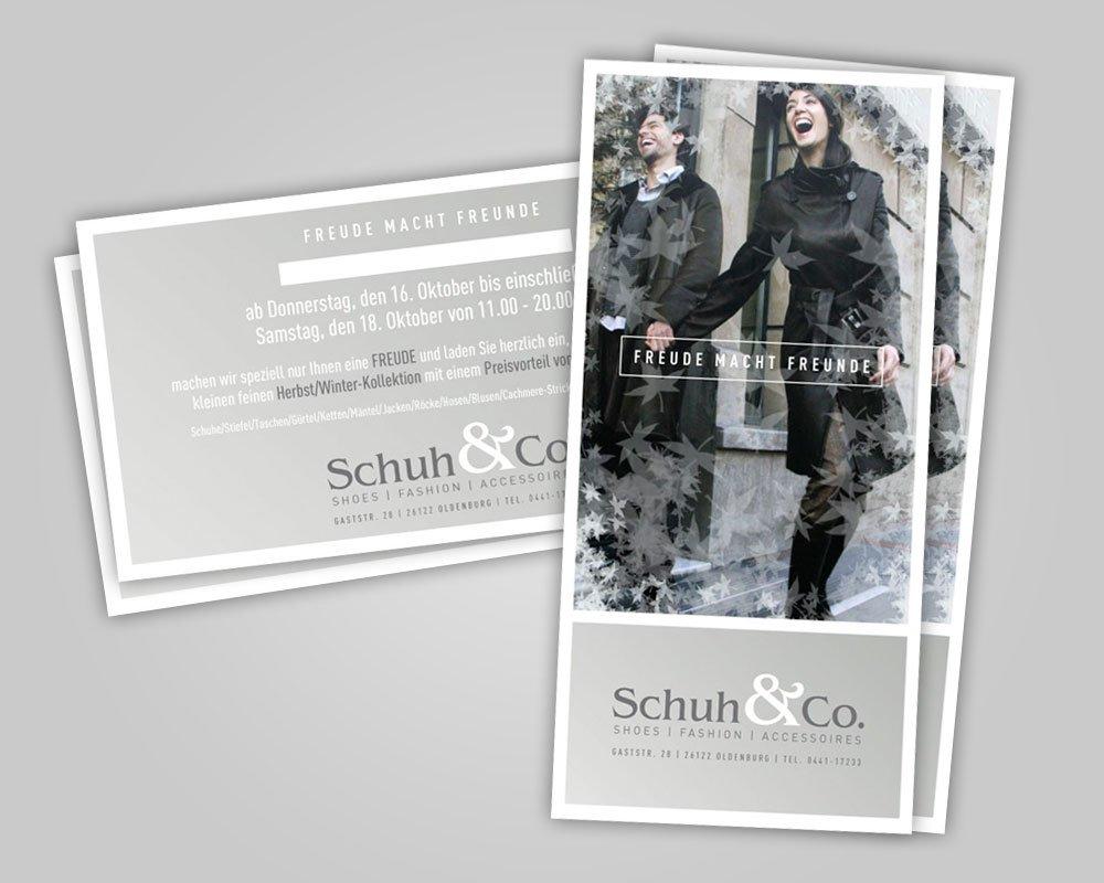 JD Designstudio   Werbeagentur & Webdesign   Schuh & Co. Karte Mailing