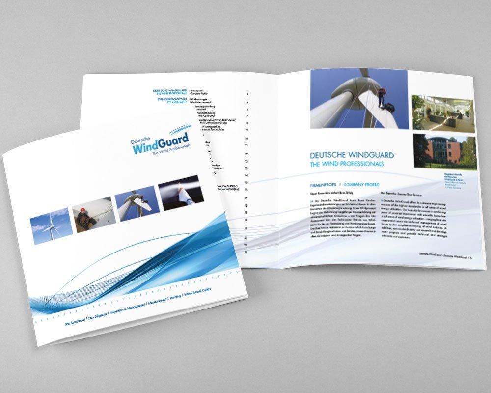 JD Designstudio | Werbeagentur & Webdesign | Deutsche WindGuard Image-Broschüre