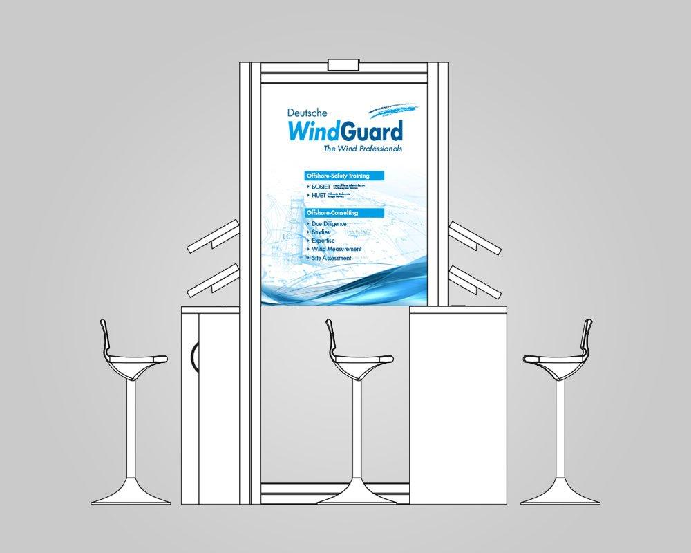 JD Designstudio | Werbeagentur & Webdesign | Deutsche WindGuard Infostand Messe