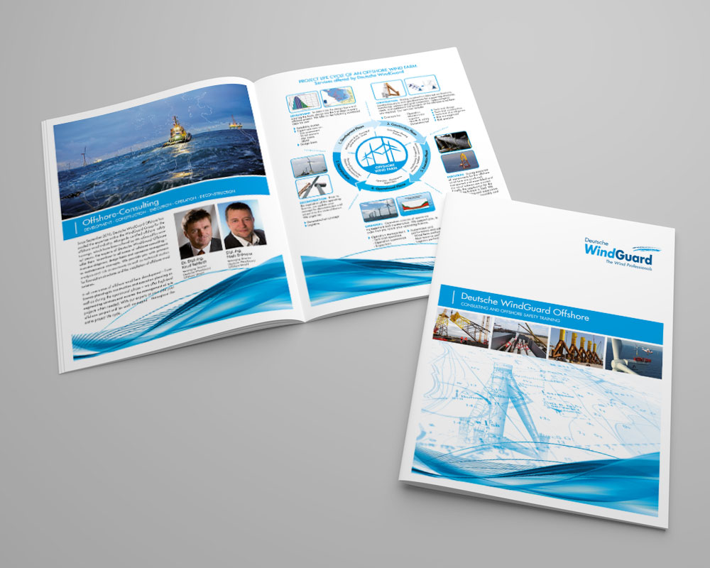 JD Designstudio | Werbeagentur & Webdesign | Deutsche WindGuard Broschüre Offshore
