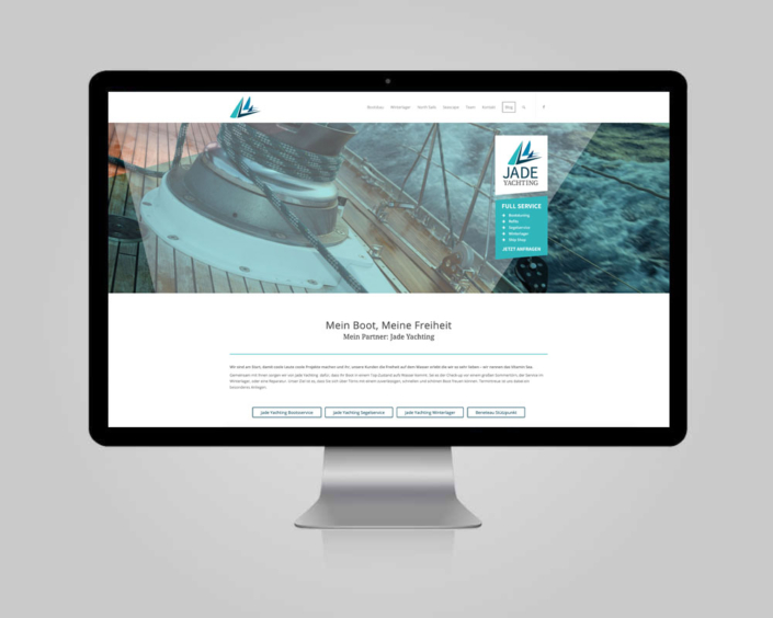 Website JadeYachting GmbH